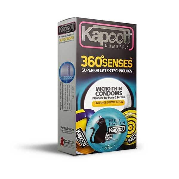 کاندوم نازک تحریک کننده ۳۶۰ درجه کاپوت ۱۲ تایی