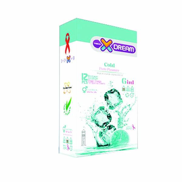 کاندوم سرد چندمنظوره حلقوی ایکس دریم ۱۲ تایی