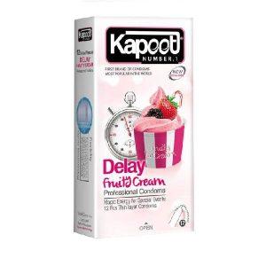 کاندوم تاخیری بستنی میوه ای کاپوت ۱۲ تایی